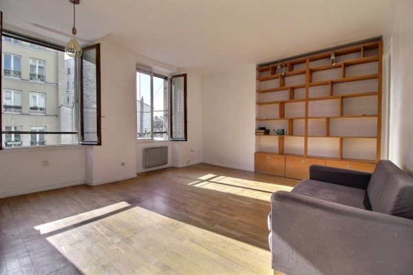 Ménilmontant - 4 pièces avec bureau de 56.46 m2 au sol, 55,31 m² loi Carrez